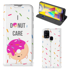 Samsung Galaxy M31 Flip Style Cover Donut Roze