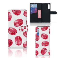 Huawei P Smart Pro Book Cover Pink Macarons