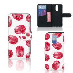 LG Q7 Book Cover Pink Macarons