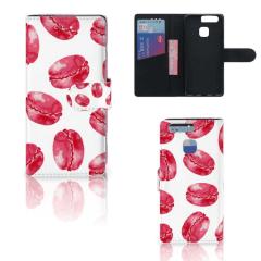 Huawei P9 Book Cover Pink Macarons