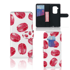 Motorola One Zoom Book Cover Pink Macarons
