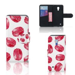 Samsung Galaxy S4 Mini i9190 Book Cover Pink Macarons