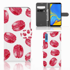 Samsung Galaxy A7 (2018) Book Cover Pink Macarons