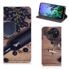 LG Q60 Flip Style Cover Wijn