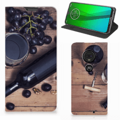 Motorola Moto G7   G7 Plus Flip Style Cover Wijn