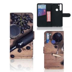 Motorola Moto G8 Book Cover Wijn