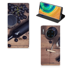 Huawei Mate 30 Pro Flip Style Cover Wijn