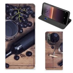 Sony Xperia 10 II Flip Style Cover Wijn