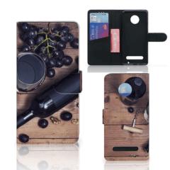 Motorola Moto Z2 Play Book Cover Wijn