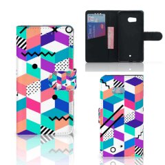 HTC U11 Bookcase Blokken Kleurrijk
