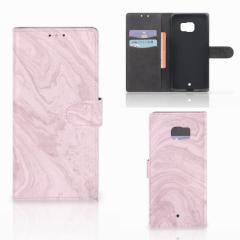 HTC U Ultra Bookcase Marble Pink - Origineel Cadeau Vriendin