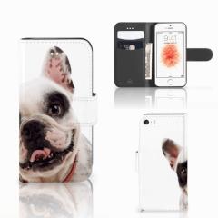 Apple iPhone 5   5s   SE Telefoonhoesje met Pasjes Franse Bulldog