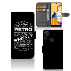Samsung Galaxy M21 Book Cover Whiskey