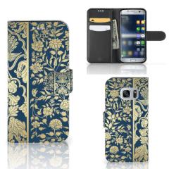 Samsung Galaxy S7 Hoesje Golden Flowers