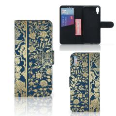 Sony Xperia L3 Hoesje Golden Flowers
