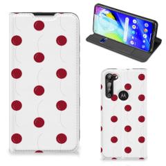 Motorola Moto G8 Power Flip Style Cover Cherries