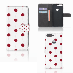 Huawei Y7 2018 Book Cover Cherries
