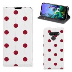 LG Q60 Flip Style Cover Cherries
