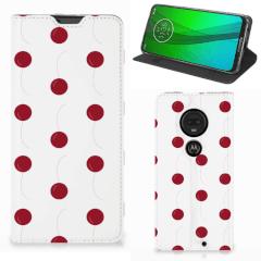 Motorola Moto G7   G7 Plus Flip Style Cover Cherries