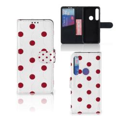 Motorola Moto G8 Plus Book Cover Cherries