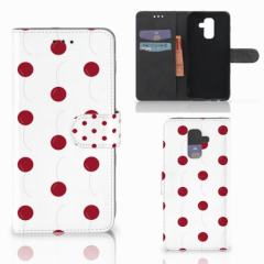 Samsung Galaxy A6 Plus 2018 Book Cover Cherries