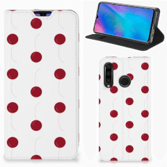 Huawei P30 Lite New Edition Flip Style Cover Cherries
