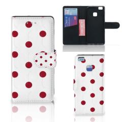 Huawei P9 Lite Book Cover Cherries