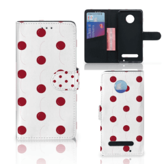 Motorola Moto Z2 Play Book Cover Cherries