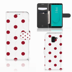 Samsung Galaxy J6 2018 Book Cover Cherries