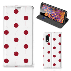 Samsung Xcover Pro Flip Style Cover Cherries