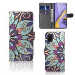 Samsung Galaxy A51 Hoesje Purple Flower