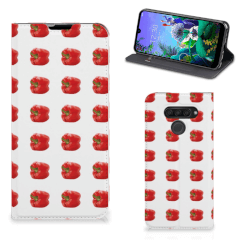 LG Q60 Flip Style Cover Paprika Red