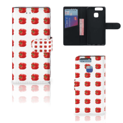 Huawei P9 Book Cover Paprika Red