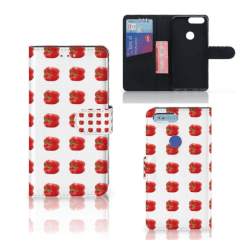 OnePlus 5T Book Cover Paprika Red