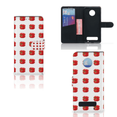 Motorola Moto Z Play Book Cover Paprika Red