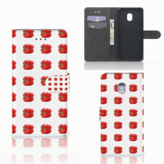 Samsung Galaxy J7 (2018) Book Cover Paprika Red