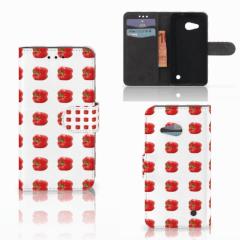 Microsoft Lumia 550 Book Cover Paprika Red