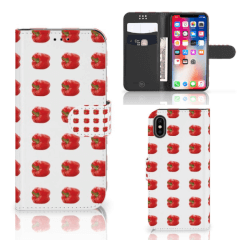 Apple iPhone X | Xs Book Cover Paprika Red