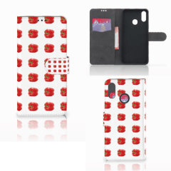 Huawei P Smart Plus Book Cover Paprika Red