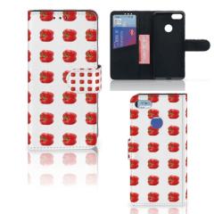 Motorola Moto E6 Play Book Cover Paprika Red