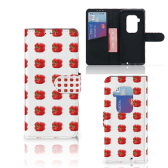Motorola One Zoom Book Cover Paprika Red