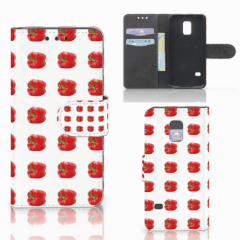 Samsung Galaxy S5 Mini Book Cover Paprika Red
