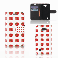 LG K4 Book Cover Paprika Red