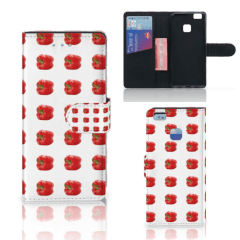Huawei P9 Lite Book Cover Paprika Red