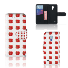 Samsung Galaxy S4 Mini i9190 Book Cover Paprika Red