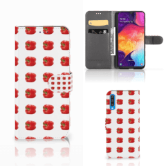 Samsung Galaxy A50 Book Cover Paprika Red