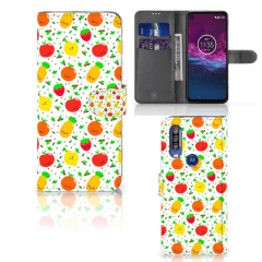Motorola One Action Book Cover Fruits