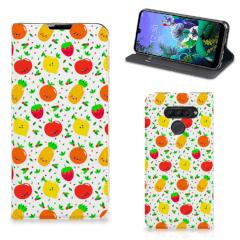LG Q60 Flip Style Cover Fruits