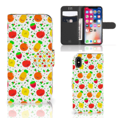 Apple iPhone X | Xs Book Cover Fruits