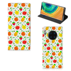 Huawei Mate 30 Pro Flip Style Cover Fruits